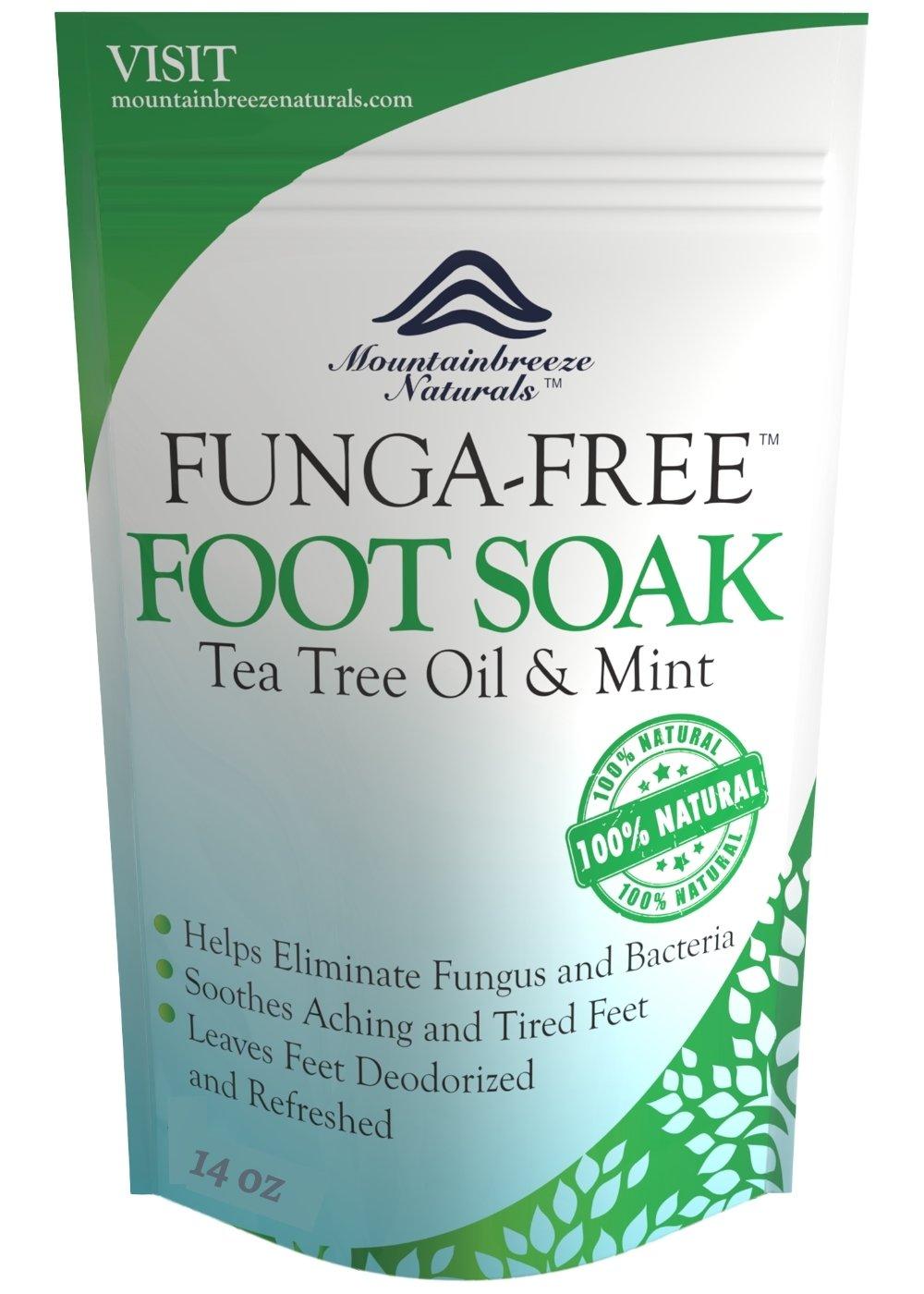 Tea Tree Oil Foot Soak With Epsom Salt, Antifungal Foot Soak Helps Away Toenail Fungus, Athletes Foot & Stubborn Foot Odor - Softens Calluses & Soothes Sore Tired Feet, 14 Ounce