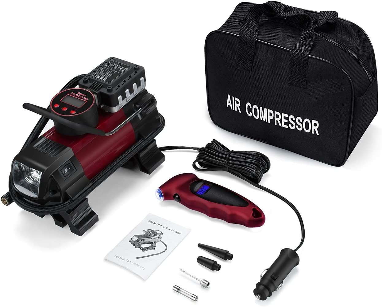 FREE TORCH Worth £9.99 Ring RAC635 Compressor 12v Car Tyre Inflator Pump