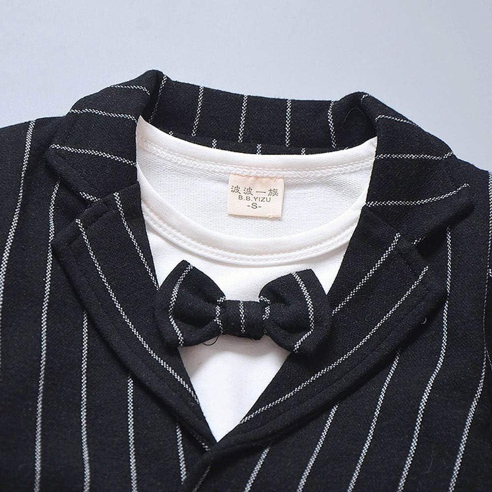 Baby Kids Boys Clothes Long Sleeve Gentleman Jacket+Shirt+Pants Outfits Set Palarn Baby Clothes