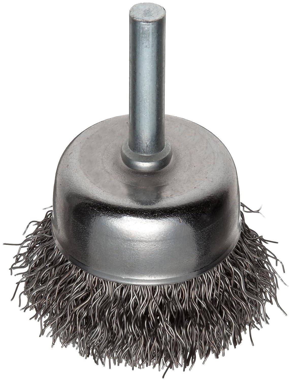 """3/"""" Crimped Wire Carbon Steel Weiler Vortex Pro Wire Cup Brush Round Shank"""