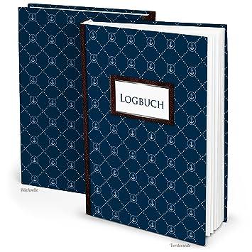 Cuaderno de bitácora segeln Después de amtl. Normas Color Azul ...