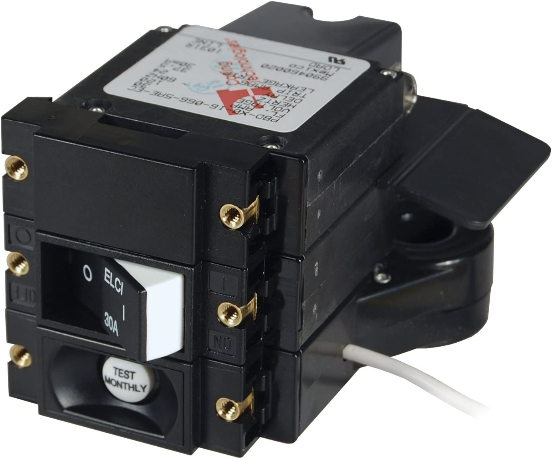 Blue Sea Systems 3102100 A-Series Double Pole 120V AC 30A ELCI Main Circuit Breaker