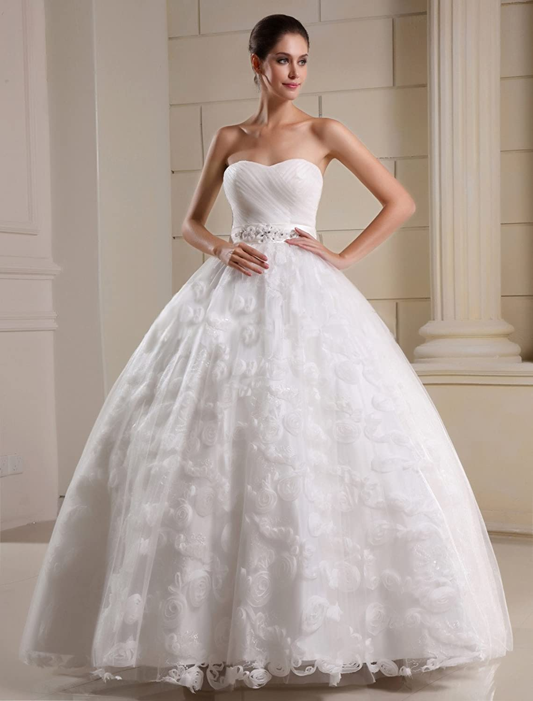 Brautkleid brautkleider creme : Bezauberndes Brautkleid Hochzeitskleid ohne Schleppe, mit ...