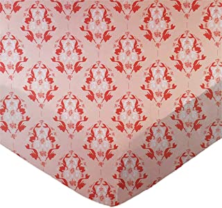 product image for SheetWorld Fitted 100% Cotton Percale Pack N Play Sheet 29 x 42, Little Mermaid Damask, Made in USA