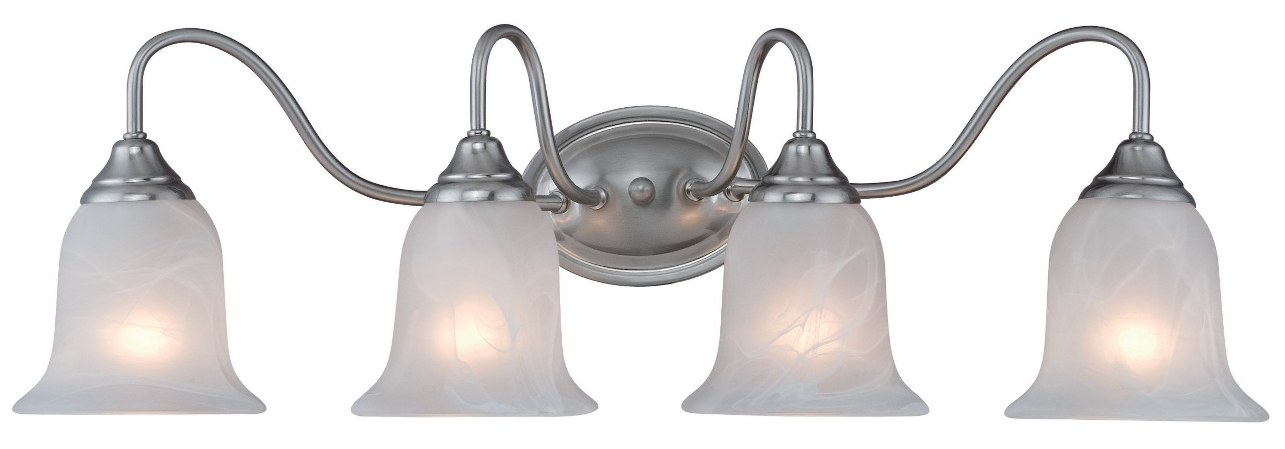 Hardware House H10-2469 Saturn 4-Light Bath or Wall Fixture, Satin Nickel