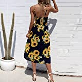 Women Summer Dresses Elegant Dress Sexy Buttons for Work Casual Party Vintage Cocktail Boho Maxi Beach Sundress