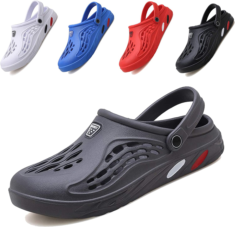 CYian Classic Clog for Mens Womens Lightweight Slip On Fuzzy Slipper Beach Sandals Garden Clogs
