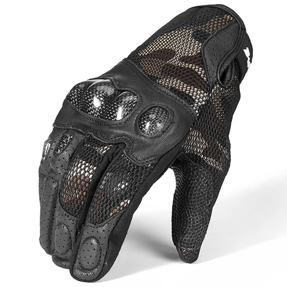 ILM Motorcycle Gloves Leather Hard Knuckle