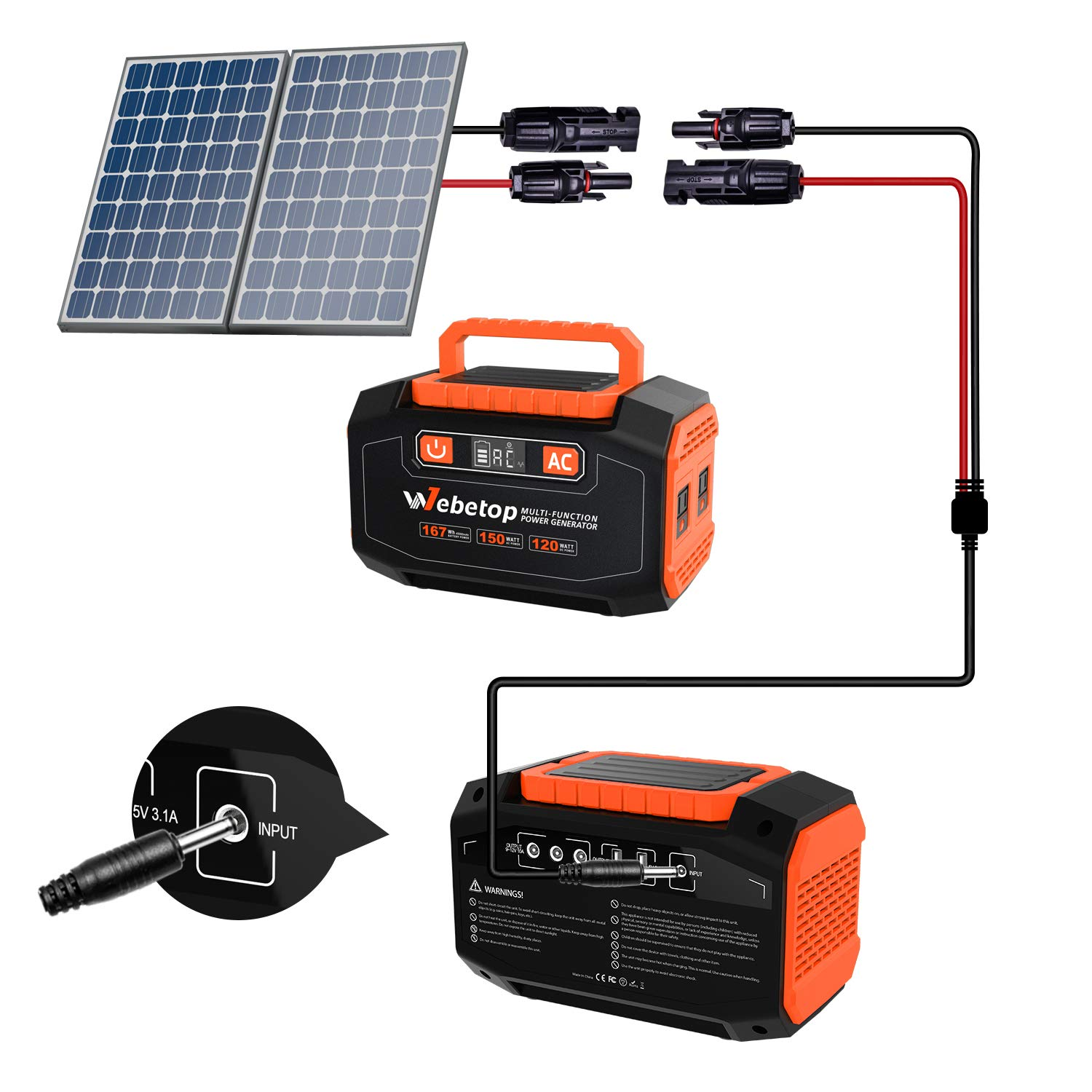 Webetop Mc4 Connector Cables Solar Panel Adapter To Dc 3 5 X 1 35mm All Power Solar Panel Recharged Portable Solar Generator Inverter Automotive Tools Equipment