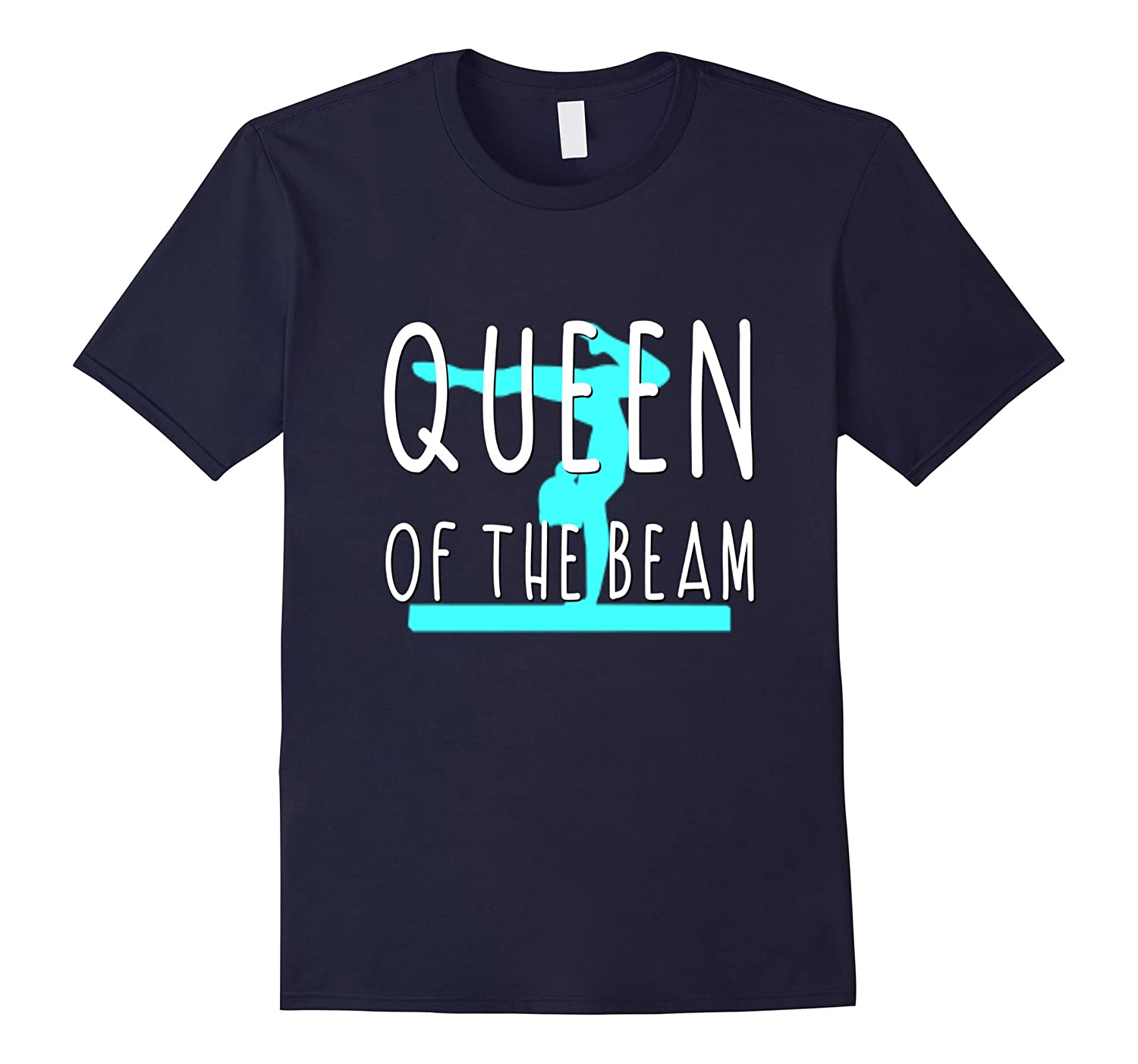 Gymnastics Shirt Gymnast Daughter Queen Of The Beam-TD