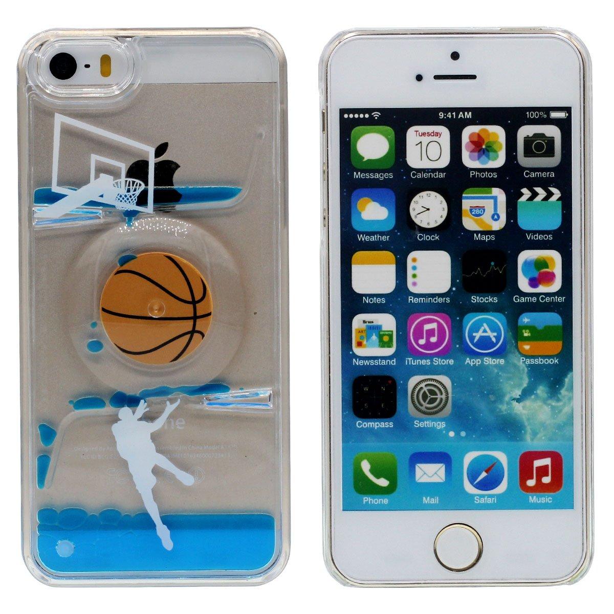 Baloncesto Girar Diseño – Líquido Agua Estilo iPhone SE Funda Case ...