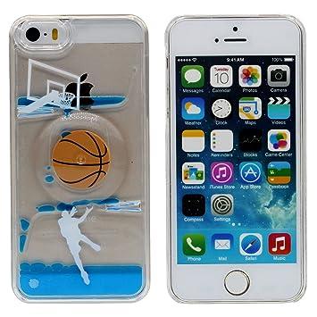 Baloncesto Girar Diseño - Líquido Agua Estilo iPhone SE Funda Case ...