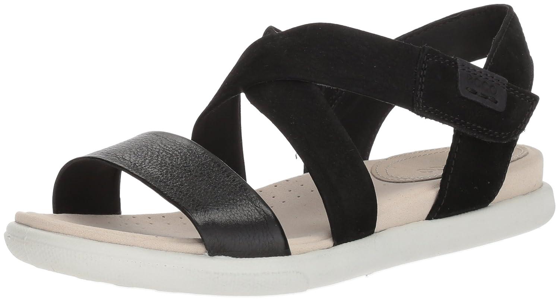 ECCO Women's Damara Crisscross Gladiator Sandal B074CVV271 37 Medium EU (6-6.5 US)|Black/Black