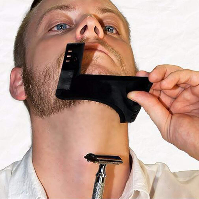 SENWOW Beard Grooming kit, Shape Tool Shaping Trimming Shaving Template for Men