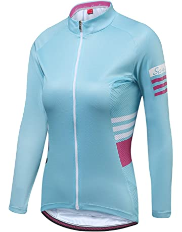 Santic Cycling Jersey Women s Long Sleeve Tops Bike Shirts Bicycle Jacket  with Pockets 7e789bab4