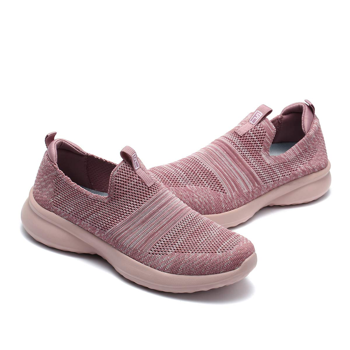 gracosy Womens Knit Sneakers Tennis Walking Shoes Lightweight Casual Sport Shoes Athletic Breathable Mesh Work Shoes