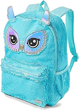 Justice Owl Flip Sequin School Backpack