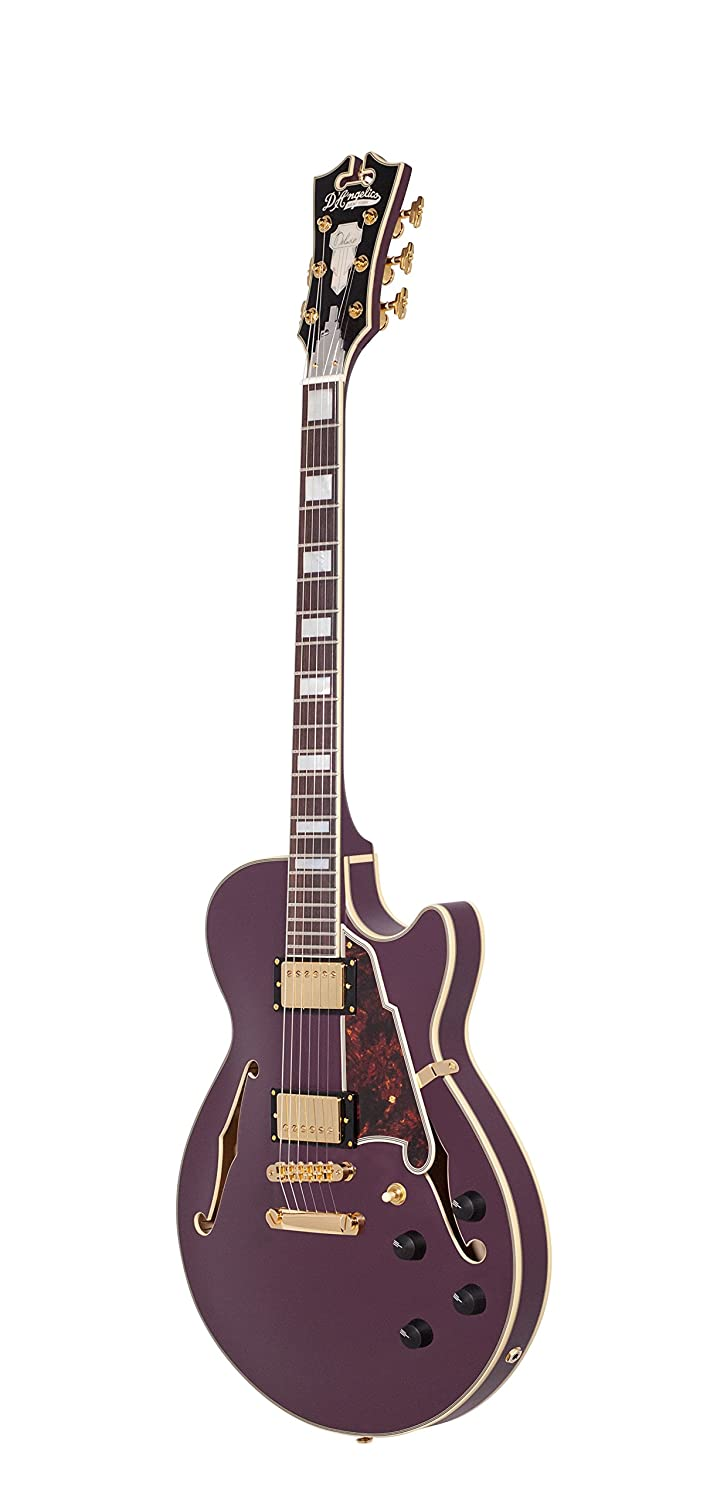 Amazon.com: DAngelico Deluxe SS Semi-Hollow Electric Guitar - Matte Plum: Musical Instruments