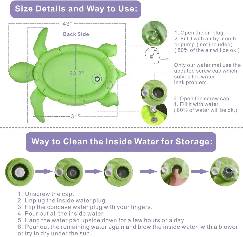 Amazon.com: Gebra tapete inflable para el vientre, con forma ...