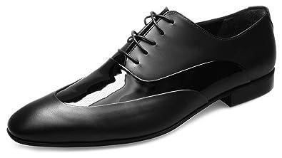 Pablo Cassini Herren Smoking Schuhe Oxford Matt Lack Leder