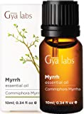 Gya Labs Myrrh Essential Oil Pure - Great for Meditation, Oral Care & Muscle Pain Relief & Dry Skin - Myrrh Oil 100…