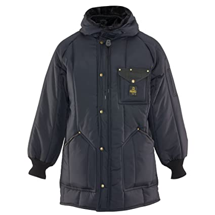 1972c368a1b32 RefrigiWear Men's Iron-Tuff Ice Parka Insulated Coat with Hood (Navy Blue,  Small