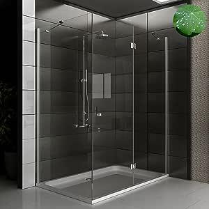 Diseño de cabina de ducha 140 x 90 x 195 mampara de ducha con 6 mm cristal para baño ducha: Amazon.es: Bricolaje y herramientas