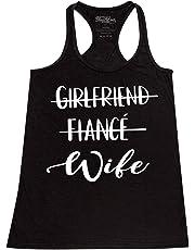 Shop4Ever Girlfriend Fiance Wife Women's Racerback Tank Top Wedding Tank Tops