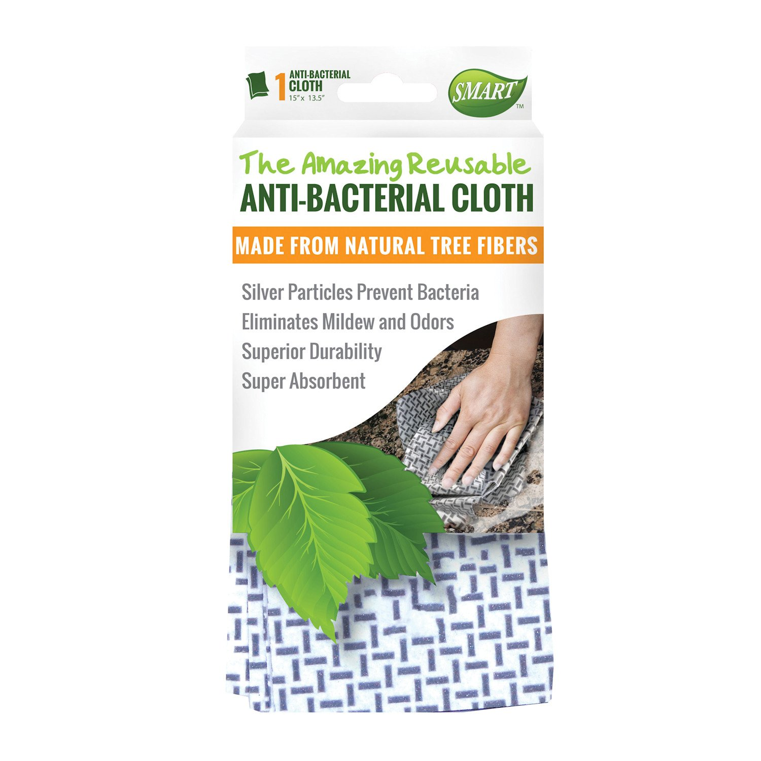 Reusable Anti-Bacterial Cleaning Cloths - Chemical Free - Set of 3