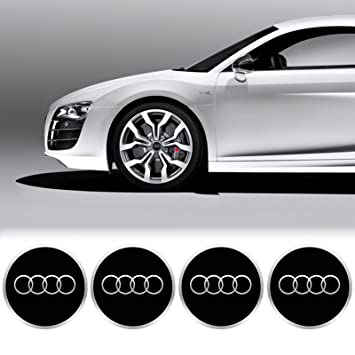 X Mm Diameter AUDI Wheel Center Cap Sticker Emblem Self Adhesive - Audi wheel center caps