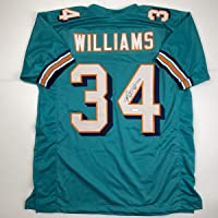 $104 » Autographed/Signed Ricky Williams Miami Teal Football Jersey Tristar COA Holo