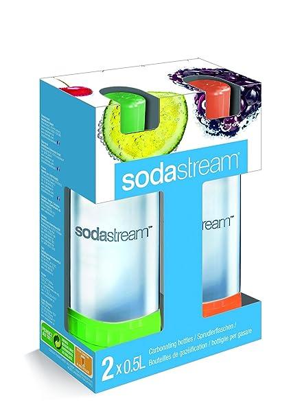 Sodastream 1048253490 - Botellas de plástico duro, 0,5 l, color naranja y