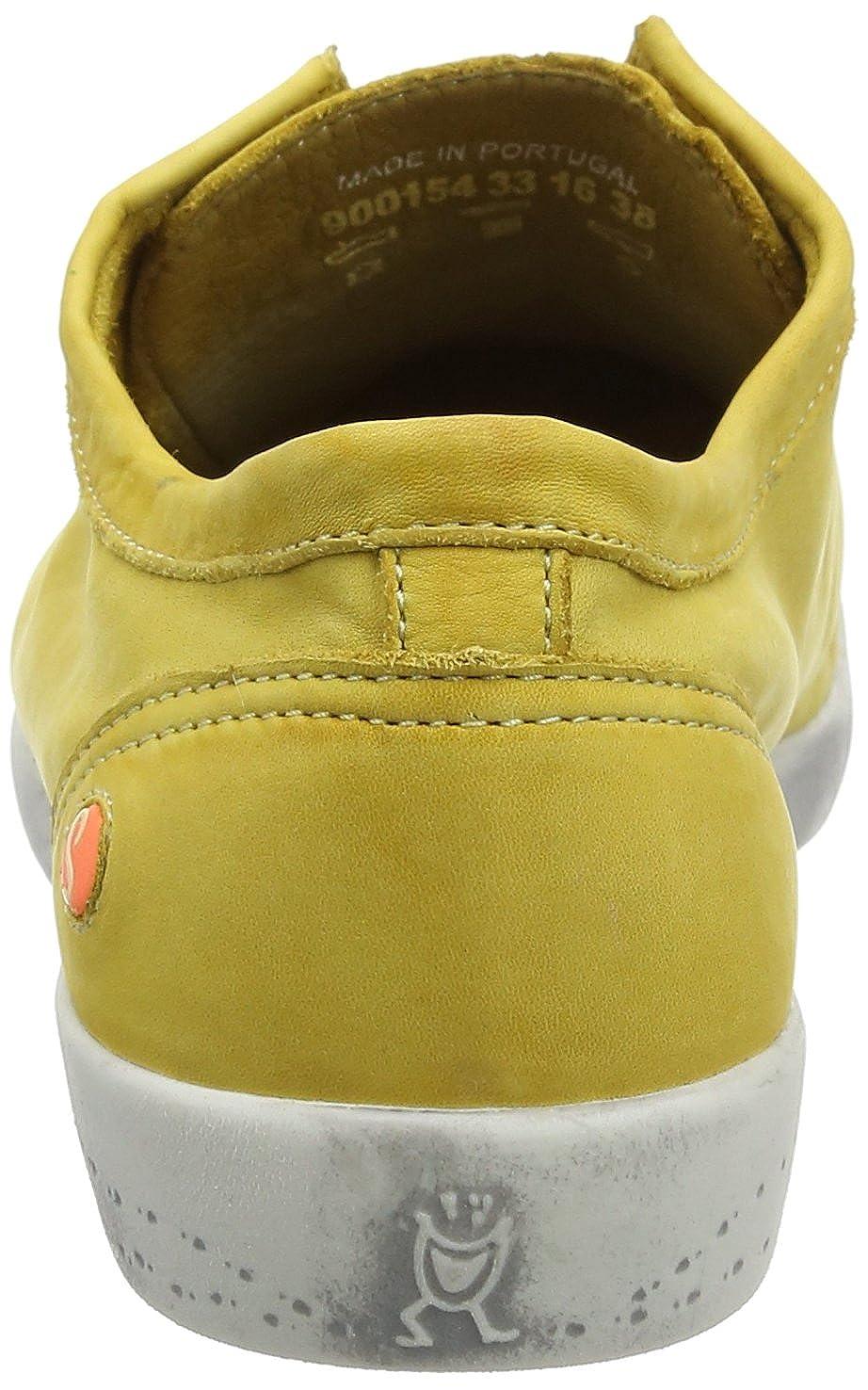 Softinos Damen Isla Washed Turnschuhe gelb gelb gelb  4dfd56
