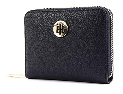 Tommy Hilfiger - Th Core Compact Za Wallet, Carteras Mujer, Azul (Tommy Navy