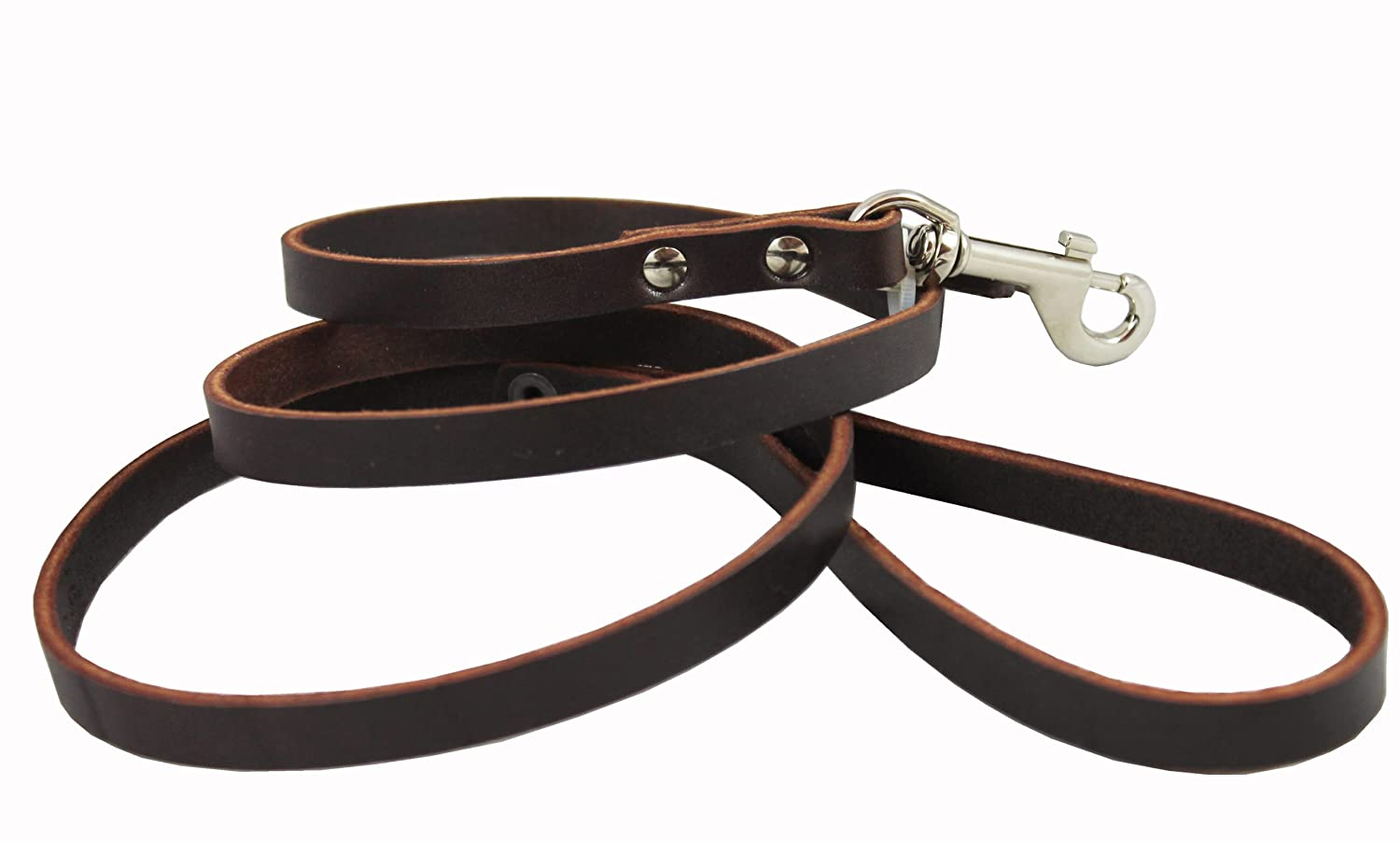 Genuine Leather Leather Leather Classic Dog Leash Marronee 1 2 Wide 4 Ft Basset Hound, Collie, Shar-Pei by Dogs My Love ab5aff