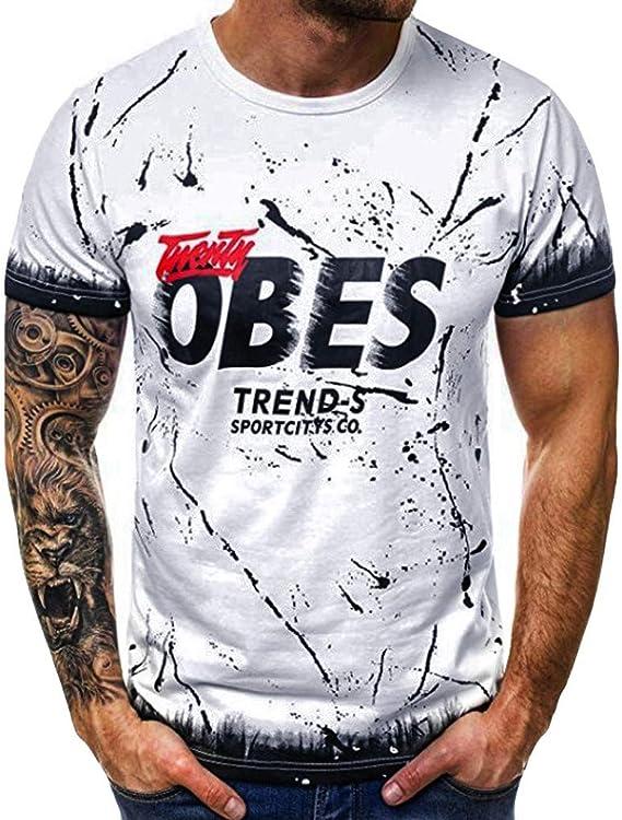 Italily Estate /Uomo T-Shirt Moda Frase Manica Corta Camicetta Maglietta /Casuale Camicette Casual Sportiva Elegante Stampa Maglietta T-Shirt Uomo Elegante Tumblr Estiva Camicetta