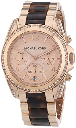 Michael Kors Reloj cronógrafo para Mujer de Cuarzo con Correa en Varios Materiales MK5859: Michael Kors: Amazon.es: Relojes