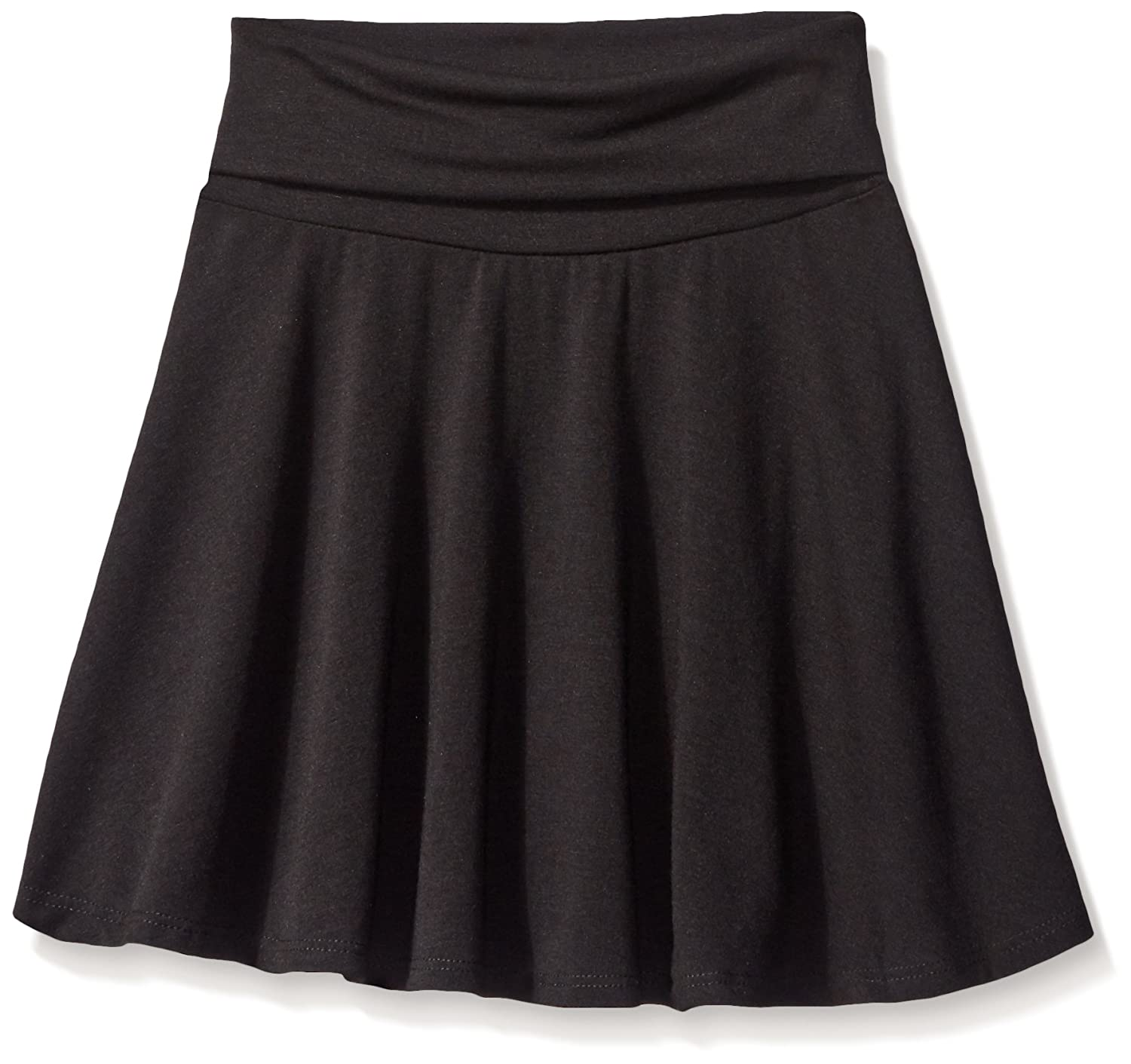 Amazon.com  Amy Byer Girls  Big Size 7-16 Knit Skater Skirt with Foldover  Waist  Clothing a42f17bd2