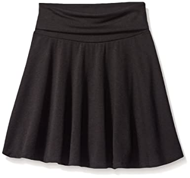 9b5e6a9f87 Amazon.com: Amy Byer Girls' Big Size 7-16 Knit Skater Skirt with Foldover  Waist: Clothing