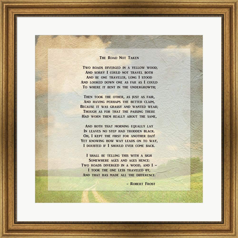 photograph regarding The Road Not Taken Printable titled : Robert Frost Highway Much less Traveled Poem Artwork Print