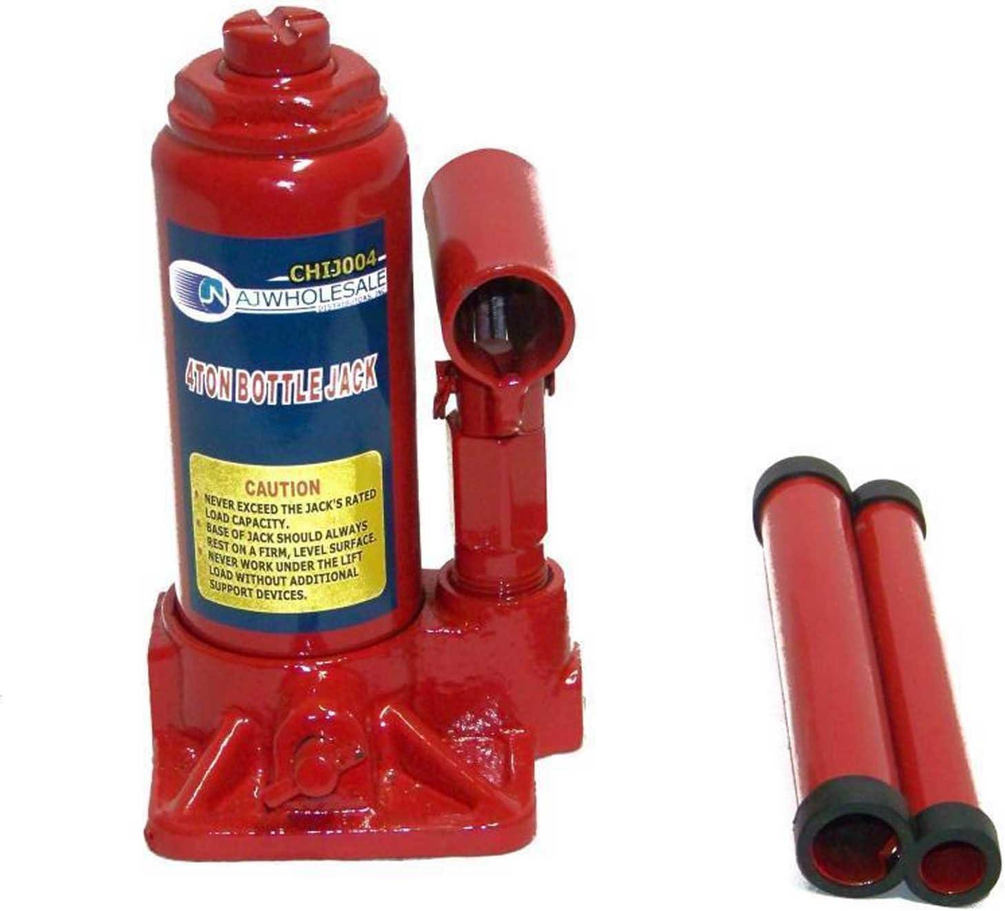 BLPextrm Hydraulic Bottle Jack 2 Ton Car Repair Shop Lift Tool Red