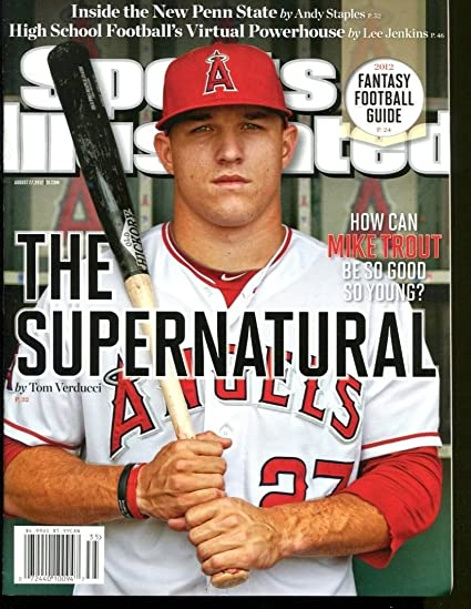 9bbffeae3cf Mike Trout 2012 Sports Illustrated No Label Newsstand 8/27/12 First S.I.  Cover