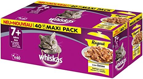 whiskas Ragout Pienso húmedo para Gatos de más de 7 años ...