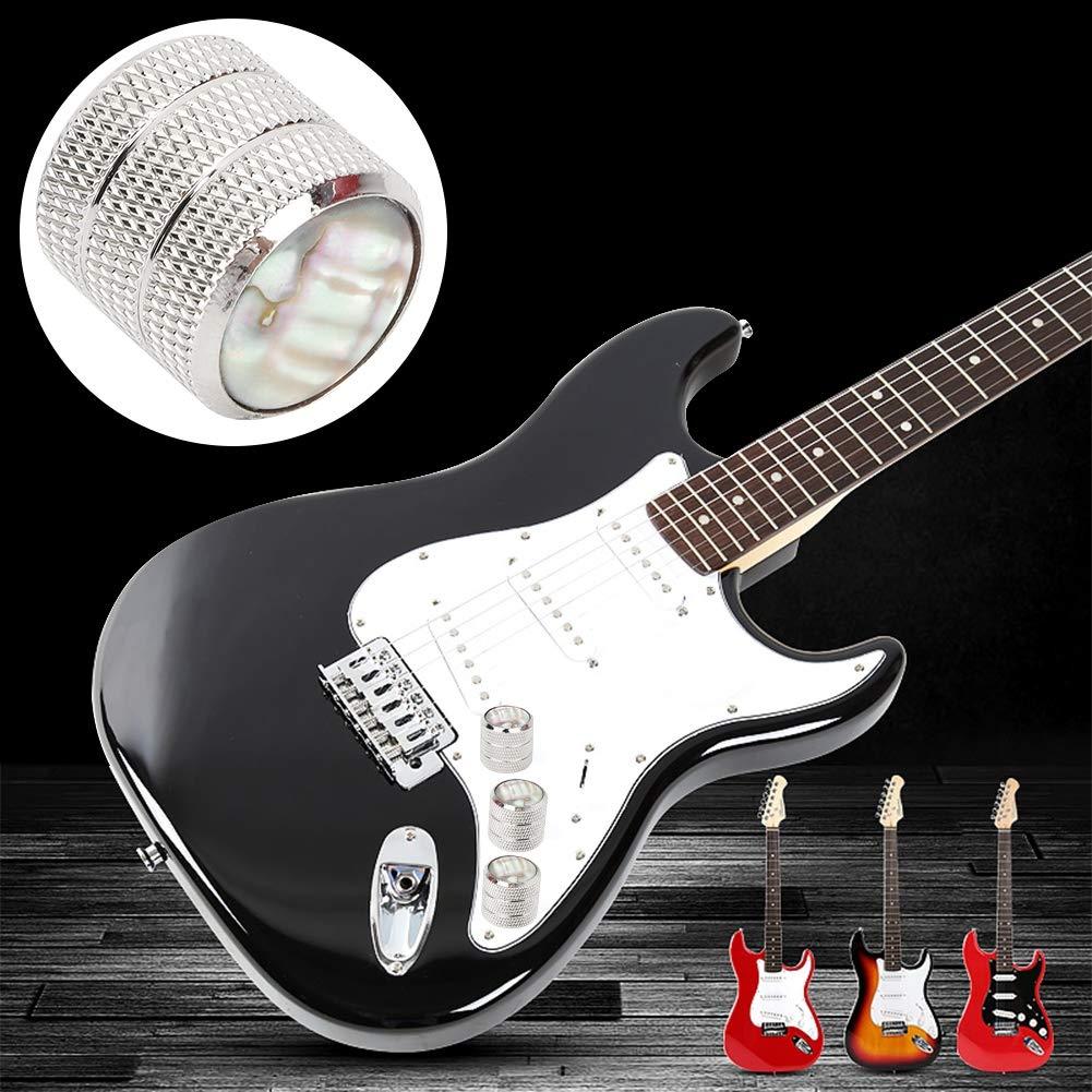 3 Piezas Perillas de Volumen y Tono de Guitarra de Metal Botones de Control de Volumen de Guitarra Plateada Perillas