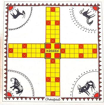 Kreeda Chaupad - A Cross and Circle Dice Game. Games of India. Aka Pagade, Pachisi, Chaupar, Aksha Kreeda, Dayakattam, Chokkattan.