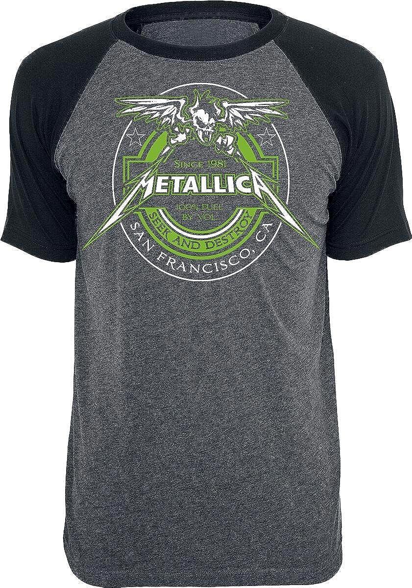 Metallica Fuel Hombre Camiseta Gris Marengo/Negro, Regular: Amazon.es: Ropa y accesorios