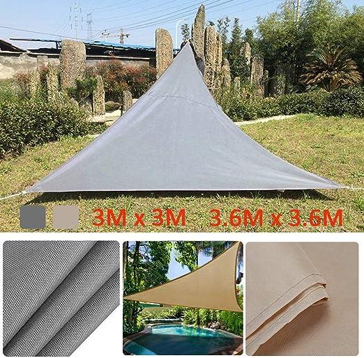 PROKTH Toldo Triangular Rectangular de protección UV, toldo para Piscina de jardín, toldo para Acampada al Aire Libre, Tienda de campaña de Picnic: Amazon.es: Jardín