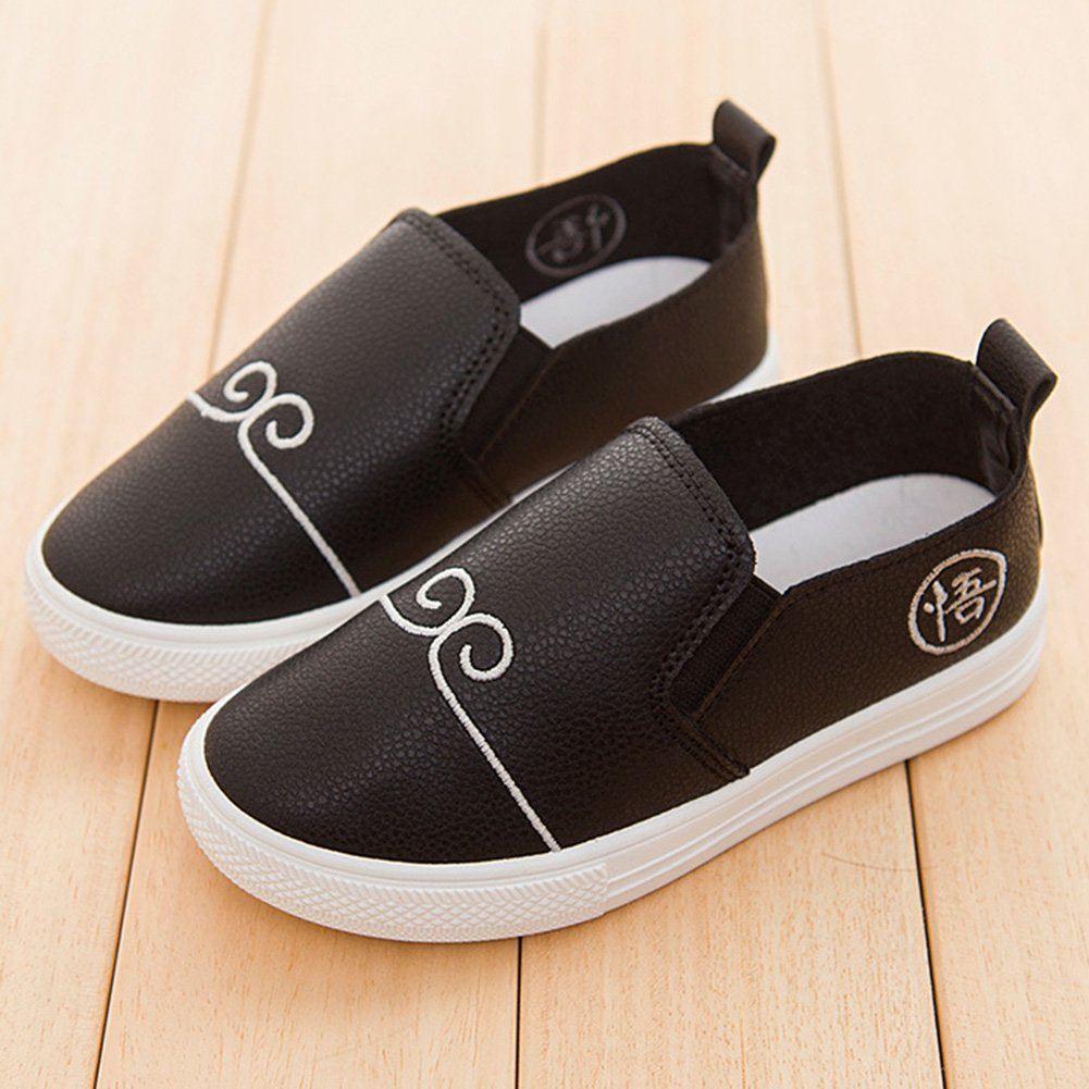 SFNLD InStar Kids Trendy Round Toe Slip On Sneakers Loafers Shoes