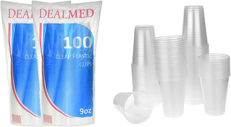 Dealmed Disposable Clear Plastic Cups, 9 oz., 200 count