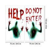 Angmart 2PCS Halloween Giant Bloody Window Posters